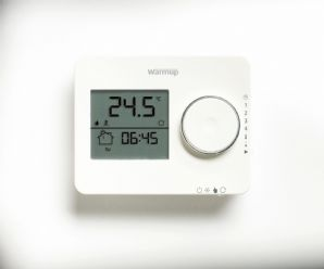 Warmup Tempo Digital Thermostat in White or Black for underfloor heating systems